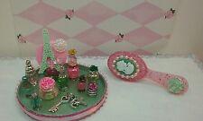 Miniature perfume bottles & tray, OOAK, Handmade, Doll House, Barbie, Blyth,