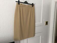Hauber Skirt Beige Size 16( Possibly 14) Silk& Viscose.