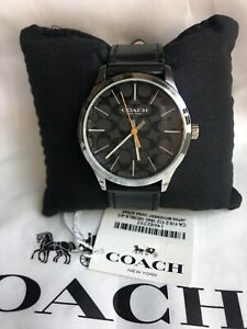 Coach Men's Watch Baxter 14602393 W1584 Leather Black $215