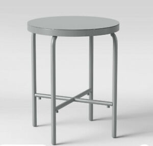 NEW Project 62 Fisher Metal Patio Table Accent Table, Outdoor Furniture, Steel