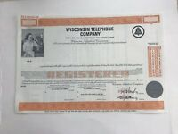 "WISCONSIN TELEPHONE COMPANY ABN ""SPECIMEN"" STOCK CERTIFICATE"