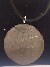 """Sestertius Of Nero Roman Coin WC29 Made From Pewter On 18"""" Black Cord Necklace"""