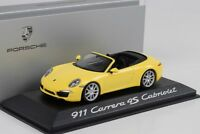 2013 Porsche 911 991 Carrera 4S Cabriolet yellow gelb Minichamps 1:43 WAP