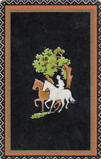 #29 1 vintage single playing swap card - Horses - Deco Riders  - JS