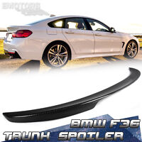 CARBON Fit For BMW 4-Series F36 Gran Coupe P Type Trunk Spoiler 418d 435i 2016