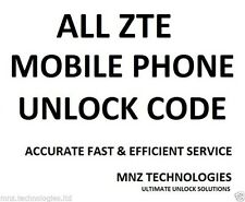 All Unlock Code ZTE Tempo T815 Telstra Australia ZTE Grand X4 Z957 Wind Canada