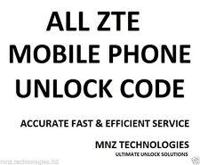 Unlock Code ZTE Sonata 4G SFR StarXtrem Telstra Frontier 4G Telstra