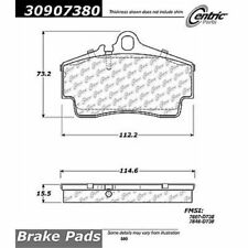 StopTech 309.07380 Rear Disc Brake Pad-Sport Brake Pad For 97-08 Porsche Boxster
