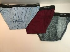 Jockey Elance, 3-Pack of Men's 100% Cotton String Bikini Brief, Large 36-38 inch