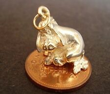 FULLY HALLMARKED BEAUTIFUL 9CT GOLD ' EEYORE ' CHARM CHARMS