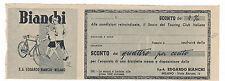 COUPON BUONO SCONTO BICICLETTE EDOARDO BIANCHI MILANO 1948 3-385