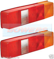 2x LDV FORD TRANSIT TIPPER LUTON FLATBED BOX VAN TRUCK REAR TAIL LAMP LIGHT LENS