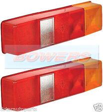2x ldv ford transit tipper luton plateau box van camion arrière verre de feu