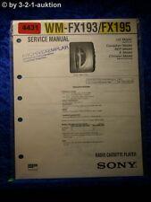 Sony Service Manual WM FX193 /FX195 Cassette Player (#4431)