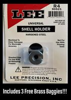 LEE Precision Universal Shell Holder R4 #4 223 Rem 380 5.56 #90521 +3 Brass Bags