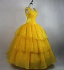 Cosplay Adult Princess Belle Costume Beauty and The Beast Fancy Dress yellow 033