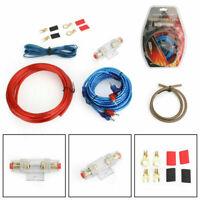 1500W 10 GAUGE Cable De Bajo Amplificador Kit Amp Audio RCA Sub FUSE Wiring Wire