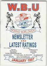 WORLD BOXING UNION NEWSLETTER AND LATEST RANKINGS BOOKLET JANUARY 1997