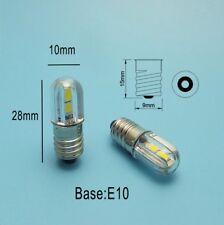LAMPADINA E10 a 4 LED 12V 12Vcc 12Vca 1W 100 lumen per bici torce ecc