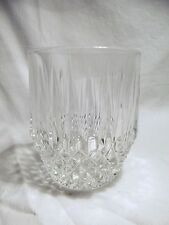 *NEW* Set of 4 vintage FOSTORIA clear CRYSTAL glass STRATTON rock dof GLASSES