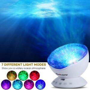 LED Galaxy Projector Lamp Star Sky Night Light Ocean Wave Music Speaker Remote
