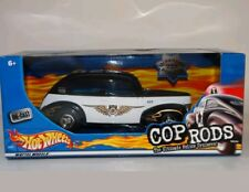 Hot Wheels Fat Fendered '40 Cop Rods Sacramento CA Police 1:24 Scale Diecast Car