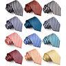 Hommes Cravate Large Classique Noeuds Rayures Fashion Multicolore Marque DQT