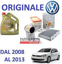 KIT TAGLIANDO ORIGINALE 4 FILTRI + 5 LT OLIO CASTROL 5W30 VW GOLF 6 VI 2.0 TDI