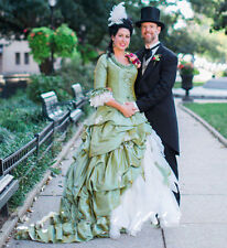 Vintage Gothic Wedding Dress Victorian Half Sleeves A-line Long Bridal Ball Gown