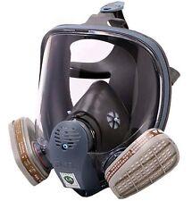 Gas Mask Full Face Facepiece Reusable Respirator Spray Paint Filter for 3M 6800