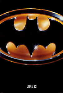 """BATMAN Movie Poster [Licensed-New-USA] 27x40"""" Theater Size (B) 1989"""