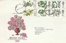 1967 GB Flowers Stamps First Day Cover Weybridge Surrey PMK Ref: MT425