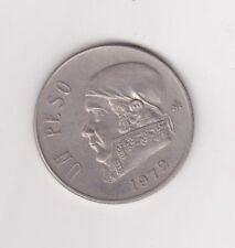 Estados Unidos Mexicanos Un Peso Coin 1972 !