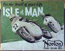 Norton Motors Roadholder TIN SIGN Motorcycle Ad Vtg metal Wall Decor Garage