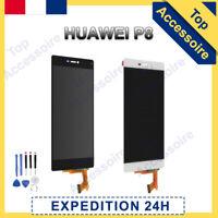VITRE TACTILE + ECRAN LCD POUR HUAWEI P8 NOIR / BLANC + OUTILS + FILM