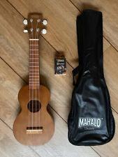 MAHALO Electric Soprano Ukulele With Aquila Strings Electro
