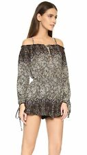 Free People So Divine Off The Shoulder Romper In Midnight Size Small New NWT