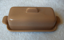 Franciscan Tiempo Pebble Tan rectangular covered butter~mid-century modern-NR