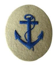 Kriegsmarine Boatswain NCO Trade Badge - WW2 Repro Patch German Navy Anchor New