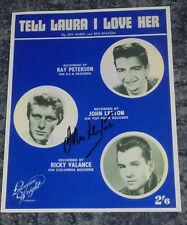 JOHN LEYTON-  TELL LAURA I LOVE HER -10x8 PHOTO SIGNED-