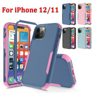 For iPhone 11 12 13 Pro Max XR Max Shockproof Case Heavy Duty Armor Rugged Cover