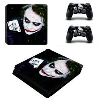 Batma Joker Sticker PS4 Slim Vinyl Skin Cover Set Controller Decal Console #2