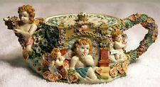 Cherub Decorated Teapot Trinket Box With 3 Trinkets