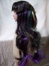 Child Witchcraft Wig Brown Purple Green Gold Wicked Witch Gypsy Fortune Teller
