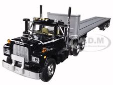 MACK R TRUCK WITH TWO 48FT FLATBED TRAILERS STACKED 1 /64 BY FIRST GEAR 60-0291