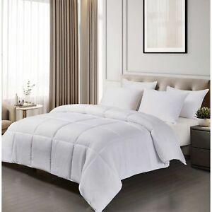 Blue Ridge Home Fashion Microfiber Down Alternative Comforter-FULL QUEEN WHITE