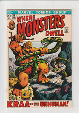 Where Monsters Dwell #15 (1972, Marvel) VF Kraa Unhuman