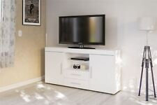 Birlea Edgeware TV Entertainment Unit Sideboard White Gloss Stand Cabinet