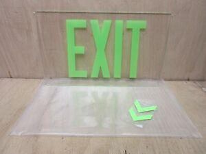 Clear Acrylic Exit Sign Insert with Arrows - Mancave / Garage / Man Cave / Shop