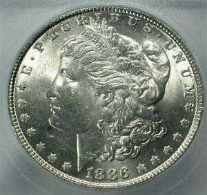 1886 USA Morgan Silver Dollar ICG MS63 Condition KM# 110  (735)